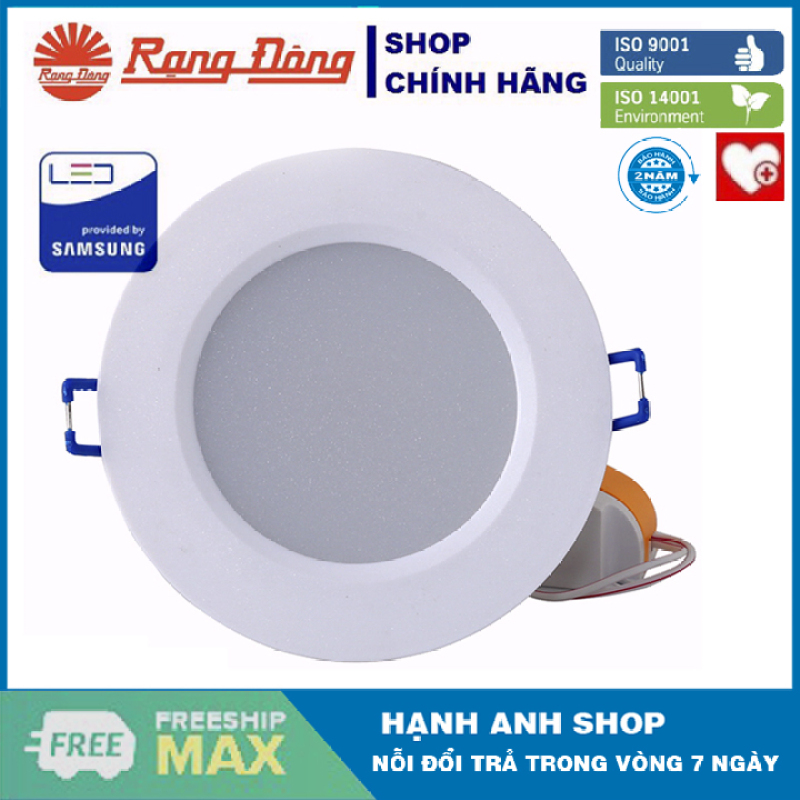 [ Hàng Việt Nam Chất lượng Cao ] Đèn LED Âm trần Downlight Rạng Đông Model: D AT06L - Bảo Hành 24 Tháng