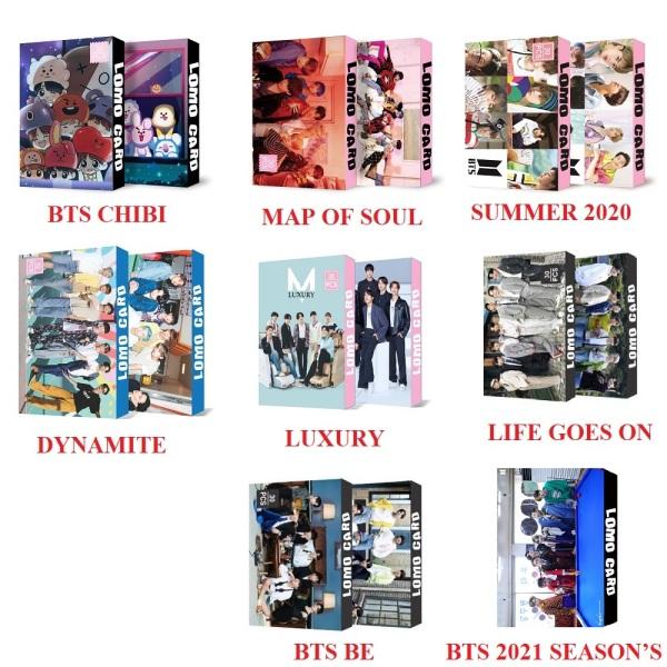 8 Mẫu Lomo Card BTS Thần Tượng Âm Nhạc Mới Nhát 2021