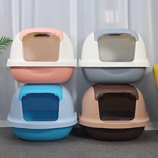 Nhà vệ sinh cho mèo - Toilet mèo size lớn (52x43x41) tặng kèm xẻng - [Nông Trại Thú Cưng]