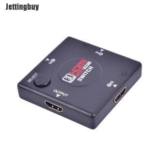 Jettingbuy Bộ Chuyển Đổi HDMI 3 Cổng 1080P Bộ Chuyển Đổi HDMI Bộ Chia HDMI Giao Diện HDMI thumbnail