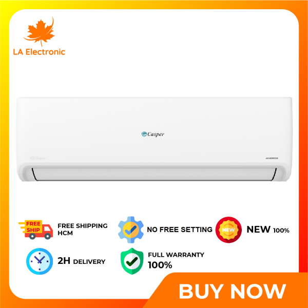 [HCM]Inverter air conditioner 1.0HP Casper GSC-09IP25 model 2021 - Free shipping HCM 4-way wind swing: up/down left/right wind direction spreading cold air evenly throughout the room The i-Clean function cleans dirt on the surface of the indoor unit