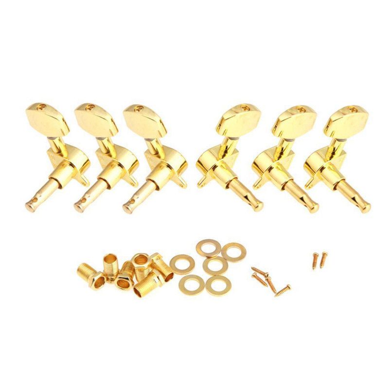 Deal tại Lazada cho Gold Sealed Guitar String Tuning Pegs Tuners Machine Heads 3L+3R New