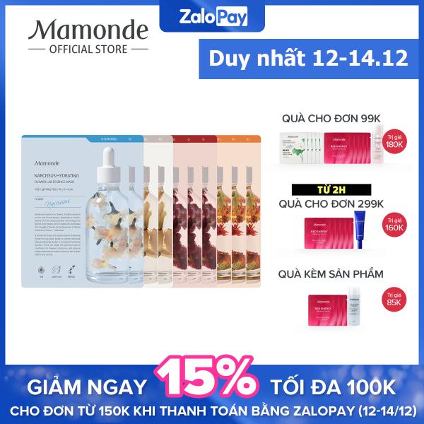 Bộ 10 mặt nạ giấy dưỡng ẩm Mamonde Flower Lab Essence Mask (25MLx10) nhập khẩu