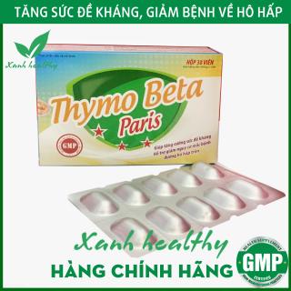 Viên uống Thymo Beta Paris Hàng Chính Hãng tăng cường sức để kháng - giảm nguy cơ mắc bệnh đường hô hấp hiệu quả - Hộp 30 viên thumbnail