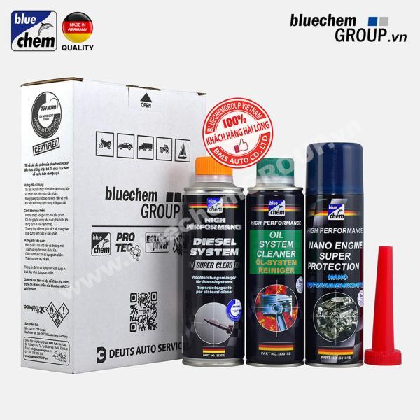Bộ 3 sản phẩm Bluechem Làm sạch và Bảo vệ Động cơ CommonRail Diesel