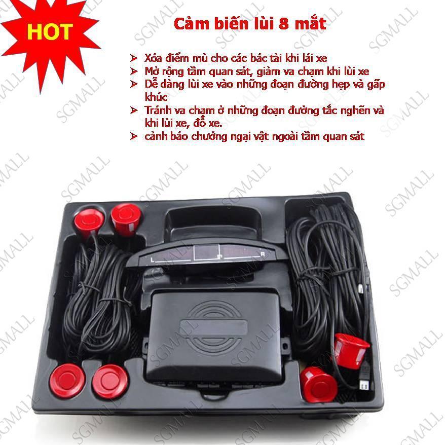 Cam Bien Lui, Cảm biến lùi 8 mắt, cảnh báo va chạm cho xe hơi, giảm giá Sốc (-50%), Bảo hành Uy Tín 1 đổi 1 tại ShopDeal và sản phẩm được phân phối toàn quốc