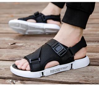 Dép sandal (xăng-đan) quai LƯỚI đế chữ unisex học sinh thời trang phong cách Hàn Quốc cực TGG68-03 4