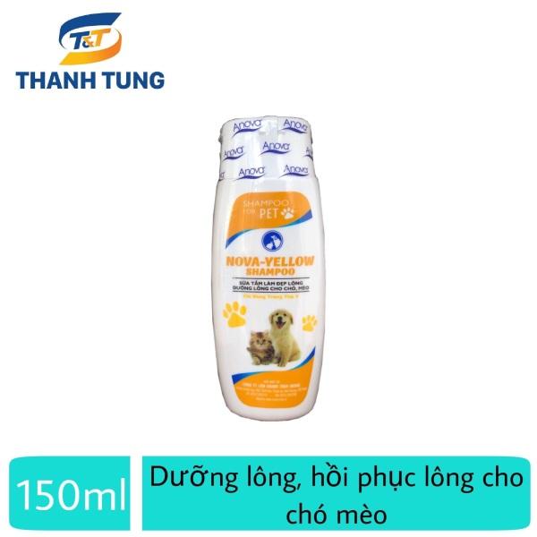 Sữa tắm ngăn rụng lông, dưỡng lông chó mèo - Anova Green 150ml Vàng