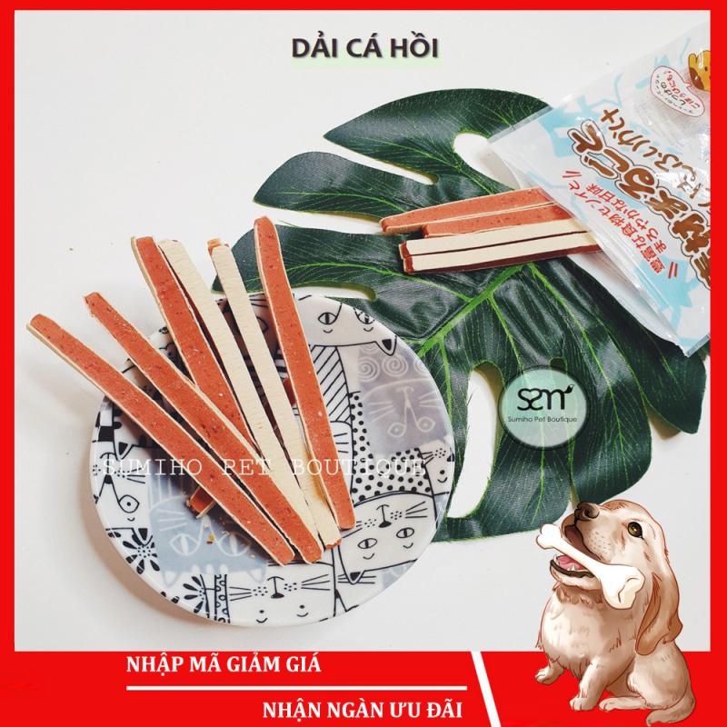 Bánh thưởng cho chó Sumiho (Dải cá hồi) (100gr/túi) Đồ ăn cho chó mèo thú cưng
