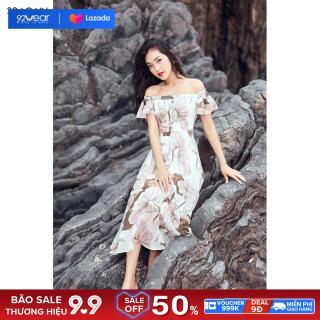 Đầm Maxi 92WEAR váy thiết kế dài tay bèo, đi biển, đi dạo DDC0101 thumbnail