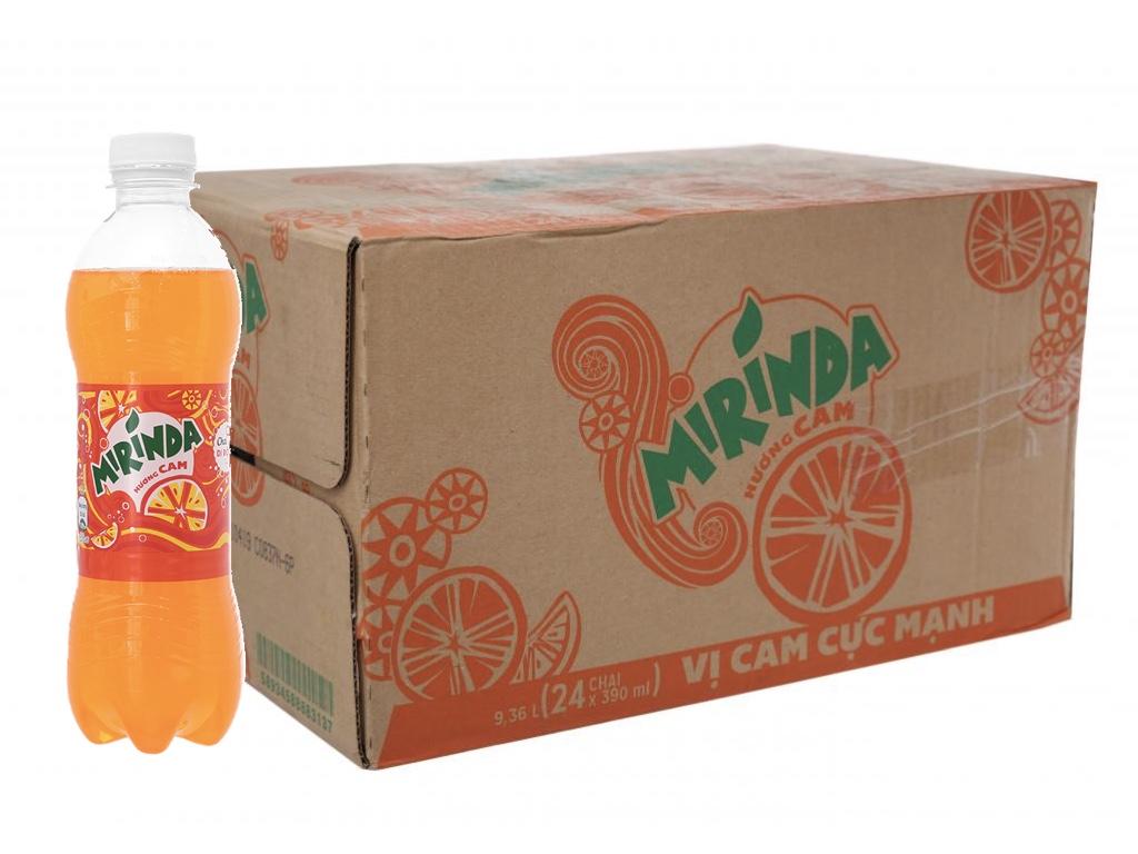 Thùng 24  chai nước ngọt Mirinda hương cam 390ml
