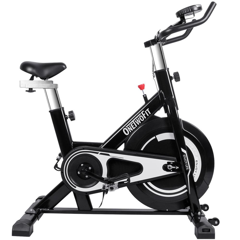 Bảng giá OneTwoFit Exercise Bike Indoor Bicycle Cycling Bike Stationary with Comfortable Seat Cushion and phone holder OT125. Xe đạp thể dục tại nhà OneTwoFit