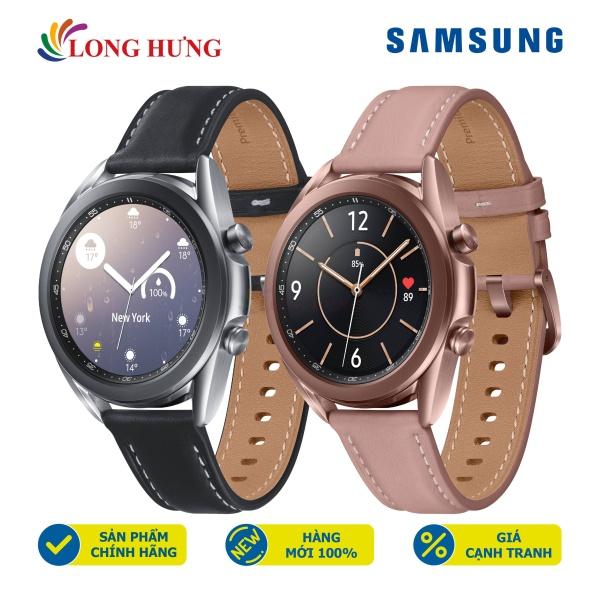 Đồng hồ thông minh Samsung Galaxy Watch 3 viền thép dây da - Hàng Chính Hãng - Thiết kế cổ điển Xoay điều khiển độc đáo Màn hình hiển thị sắc nét