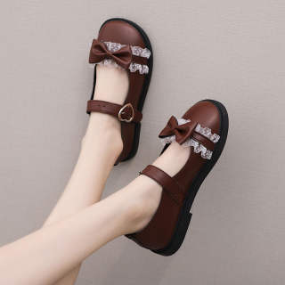 Giày Da Nhỏ Nhật Bản GG Fashion Famliy Cho Nữ Giày Đế Bằng Phong Cách Đại Học Thông Dụng Mùa Hè Phong Cách Sinh Viên Cổ Điển Giày Mary Jane To