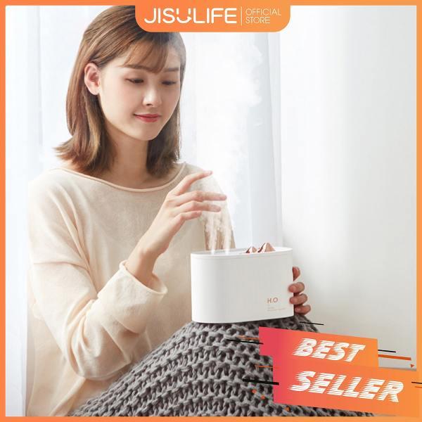 Máy phun sương Jisulife JS05 - Tạo ẩm không khí và giữ ẩm da 1000ml -  Hai vòi phun công suất lớn - Máy tạo độ ẩm không gian thư giãn, sử dụng làm sạc dự phòng, hoạt động 6-12 giờ liên tục - Bảo hành 12 tháng chính hãng