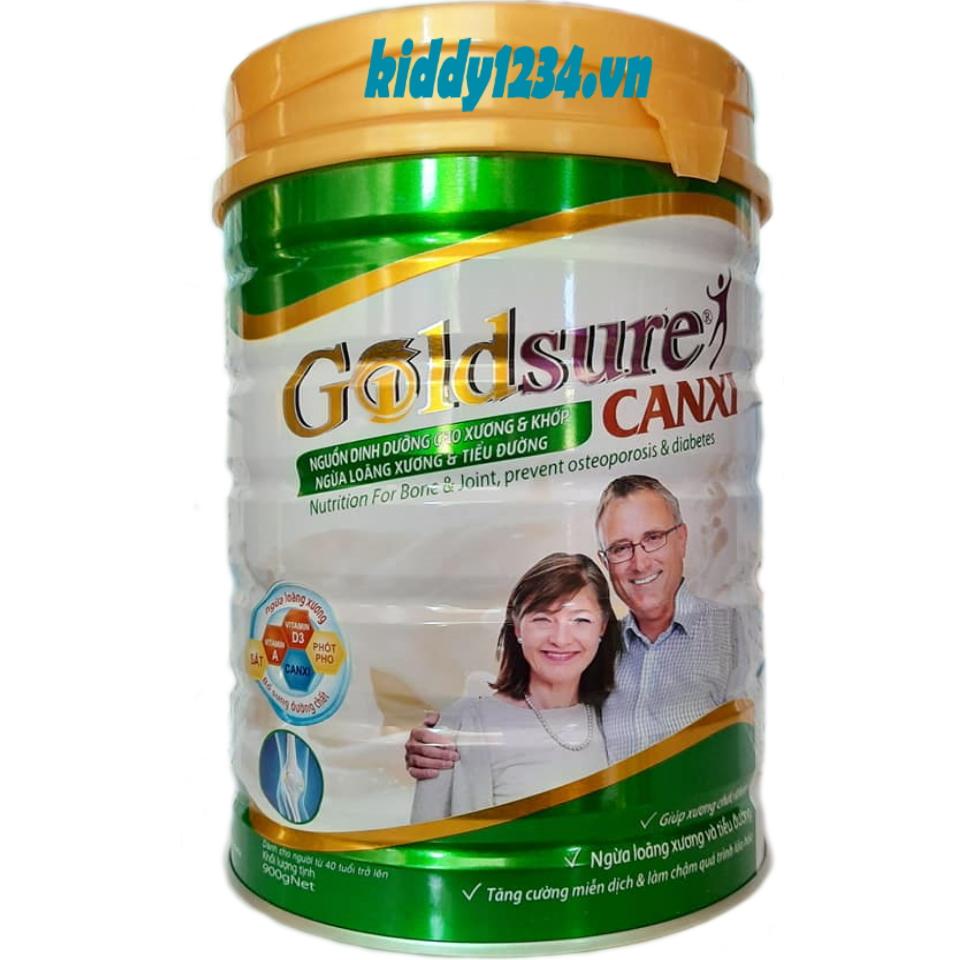 Sữa Goldsure Canxi Nc Ngừa Tiểu Đường Xương Khớp 900G Phù Hợp Cho Người Lớn, Cho Các Đối Tượng Bệnh Tiểu Đường, Cholesterol Trong Máu Cao Đang Ưu Đãi