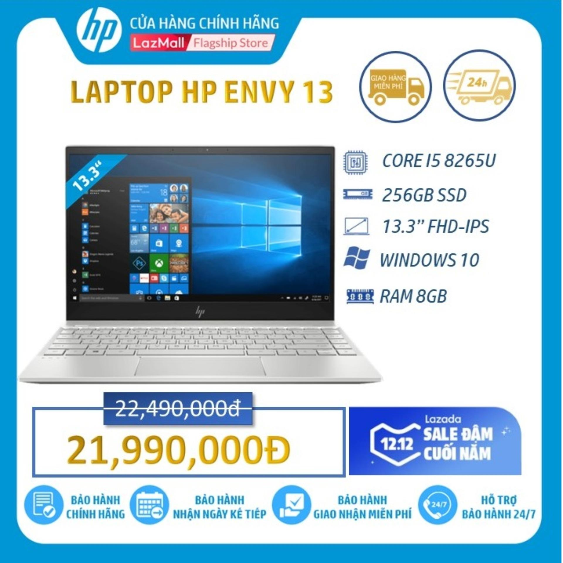 Laptop HP ENVY 13-AQ0026TU (Intel Core I5-8265U/ 8GB RAM DDR4/ 256GB SSD/ 13,3 FHD/WIN10 HOME/Pale gold-6ZF38PA) - Hàng Chính Hãng