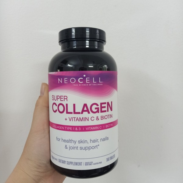 Viên Uống Super Collagen Neocell +C 6000 Mg type 1 - 3 Neocell 360