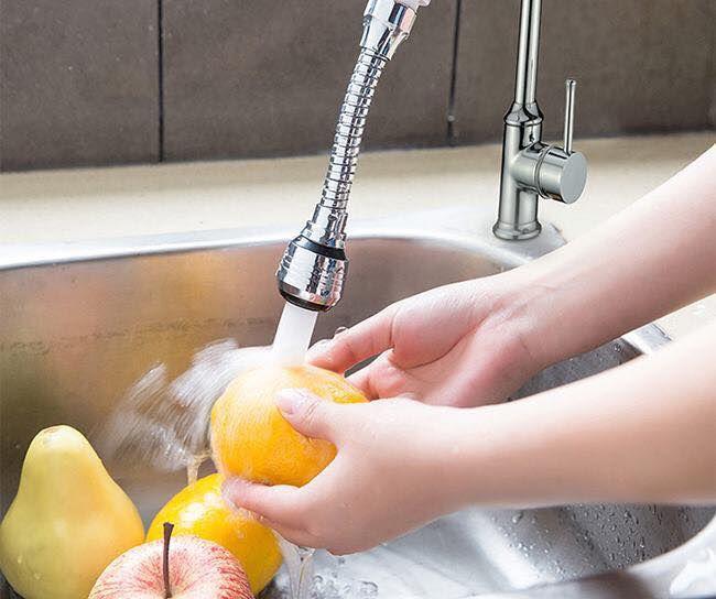 Vòi rửa tăng áp inox xoay 360 độ thông minh