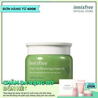 Combo làm dịu và dưỡng ẩm cho da từ trà xanh innisfree Green Tea Balancing Cream Ex