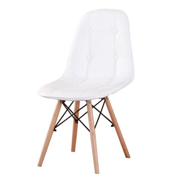 Ghế Eames chân đan lưng đệm bọc cúc , phủ da PU cao cấp , Hàng nhập khẩu , ghế cafe , ghế ăn , ghế phòng trà . Ghế đọc sách , ghế phòng khách. giá rẻ