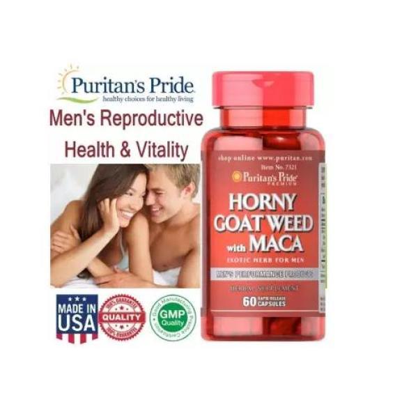 VIên uống bổ dưỡng tăng cường sinh lí nam giới Horney Goat Weed và Maca của Puritans Pride