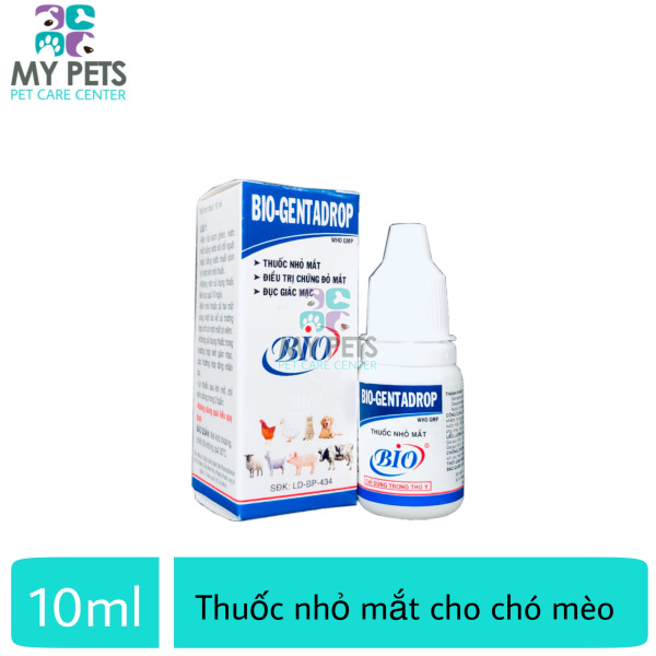 Thuốc nhỏ mắt cho chó mèo - Bio Gentadrop 10ml