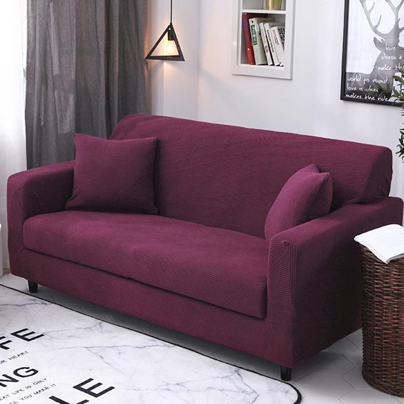 Single Person Double Elasticity Sofa Cover All Edges Included Four Seasons Swastika Can Universal Full Cover Fabric Sofa Cover Sofa Cushion