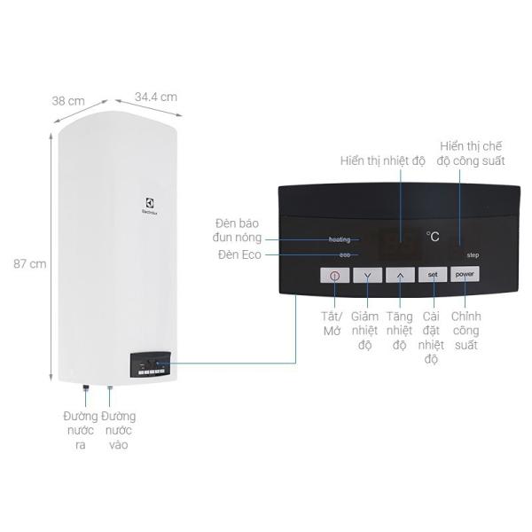 Bảng giá Máy nước nóng gián tiếp Electrolux EWS502DX-DWE HÀNG CHÍNH HÃNG