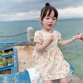 Zhihuida Váy Bé Gái 1-6 Tuổi Đầm Thường Ngày Ngắn Tay Mùa Hè Cho Bé Gái, Đầm Xòe Mùa Hè Vải Bông Chữ A Váy Trẻ Em Cô Gái