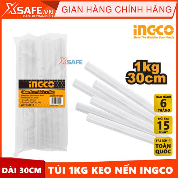 Combo 1kg keo nến chất lượng cao INGCO AKTGS3011 trong suốt đường kính 11,2mm dài 30cm - Sản phẩm chính hãng XSAFE