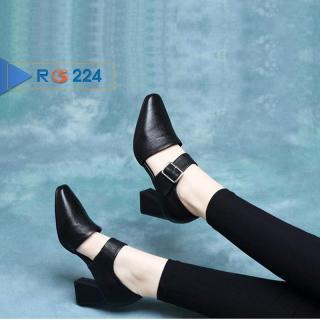 Giày boot bốt nữ đẹp hàng hiệu Rosata-6cm cổ thấp phá cách RO224 thumbnail