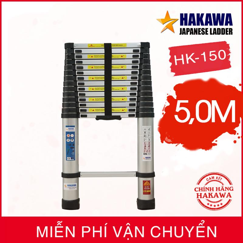 [HÀNG NHẬT CAO CẤP] Thang nhom rut đon HAKAWA JAPAN HK150  - Dành cho thợ chuyên nghiệp (5 mét)