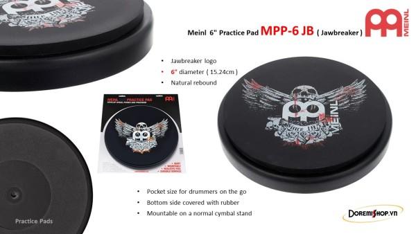 Mặt Trống Tập Meinl Practice Pad MPP-6 JB ( Jawbreaker )