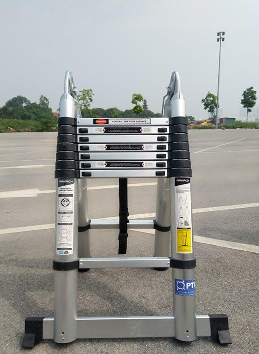 Thang nhôm rút chữ A  HAKACHI HM16CP - 5M [ BH 24 Tháng ]