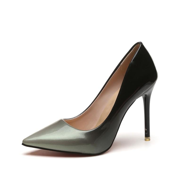 02d46ef451c4d0 41 Large Size 42 Code Fat Feet Women s Shoes 10 Cm Thin Heeled Pointed  Shallow Mouth