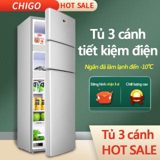 Tủ lạnh 3 cánh 148L HAILANG màu bạc tủ lạnh mini tủ lạnh cỡ nhỏ ba cửa 3 cánh 3 ngăn làm lạnh, đông mềm, đông đá, sang trọng hiện đại tiết kiệm điện tủ lạnh gia dụng tủ lạnh mini tủ lạnh cỡ nhỏ Điện máy bé XANH thumbnail