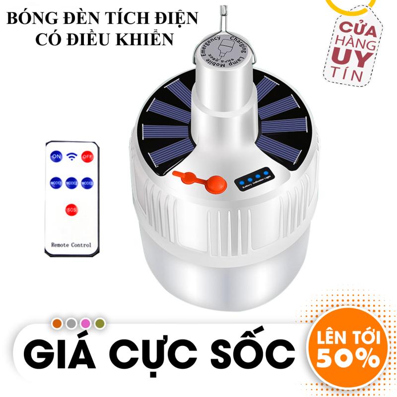 [ HÀNG HOT TOP BÁN CHẠY ]  Bóng đèn tích điện LED 100w Sạc tích điện thông minh kèm điều khiển cao cấp - Bóng đèn tích điện có điều khiển từ xa SL-24 (Loại TO)