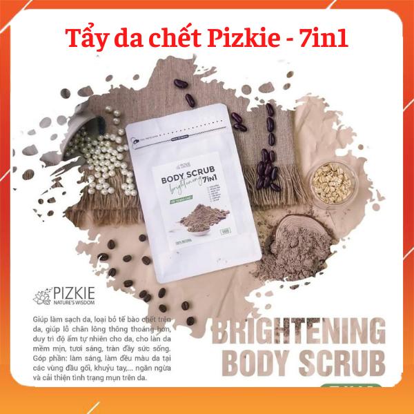 [HÀNG ĐỘC QUYỀN] Bột tẩy tế bào chết Brighterning Body Scrub Pizkie giá rẻ