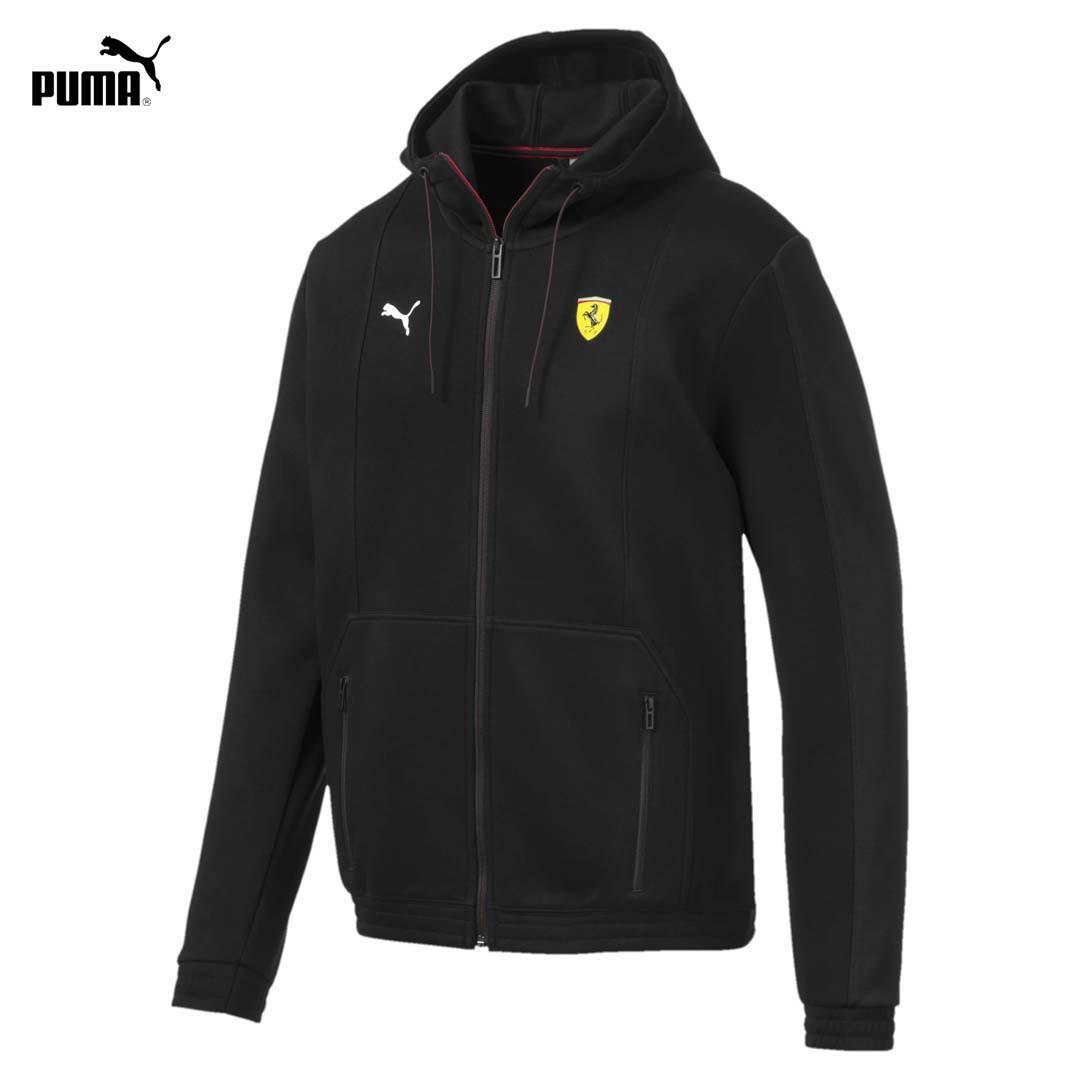 Áo Khoác Nam Puma Ferrari Hooded Men's Sweat Jacket Màu đen Đang Khuyến Mãi