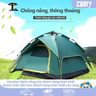 Lều dã ngoại tự động giá đỡ thủy lực 3-4 người hai tầng lều cắm trại, lều câu cá, lều bãi biển hai lớp chống nắng thoáng khí không gian lớn camry thumbnail