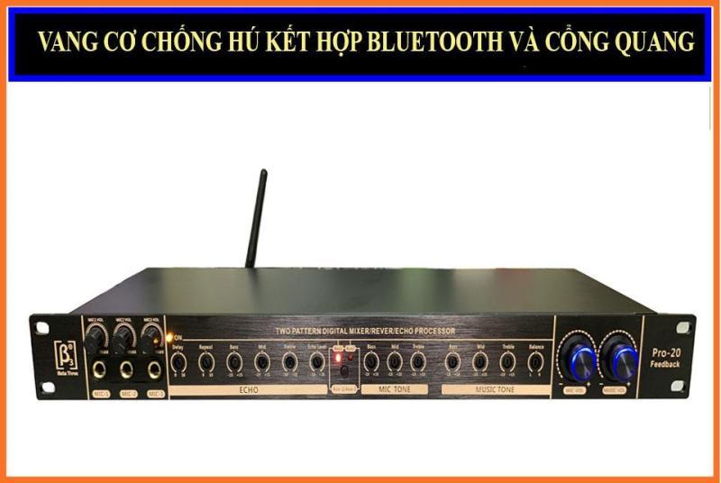 Vang cơ chống hú kết hợp Bluetooth cổng quang B3 Pro 20
