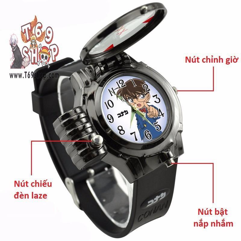 Đồng hồ CONAN thám tử lừng danh có đèn lazer - kèm hộp bán chạy