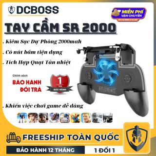 Tay cầm chơi game DCBOSS Tay cầm chơi game kiêm quạt tản nhiệt cao cấp và sạc dự phòng 2000mah SR2000, hỗ trợ tản nhiệt điện thoại khi chơi game, nhỏ gọn tiện dụng DCBOSS Center bảo hành đổi mới 12 Tháng thumbnail