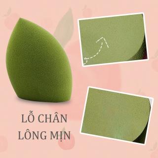 kiss belle- Mút trang điểm,Bông Mút Trang Điểm Tán Kem Nền -Màu xanh lá thumbnail