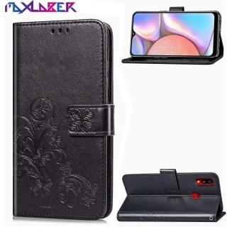 Maxlaber Ốp Lưng Cho Samsung Galaxy Ví Đựng Thẻ Dập Nổi Hình Hoa May Mắn Bằng Da PU A10s Dây Đeo Tay, Ốp Dạng Ví Đứng Lật Từ Tính Chống Sốc thumbnail