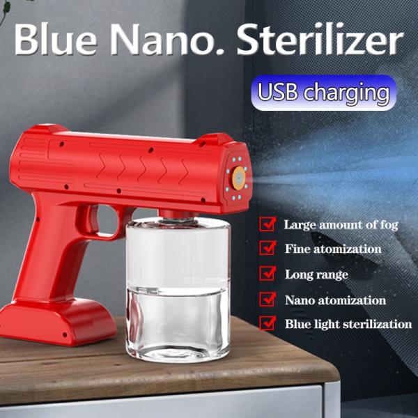 500ml tính phí Súng phun nano Cầm tay dọn dẹp Máy tiệt trùng Blu-ray Không dây súng phun Chất khử trùng