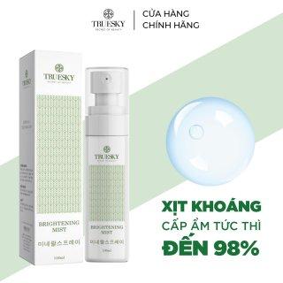 Xịt khoáng Truesky giúp dưỡng ẩm, cân bằng PH da , làm dịu da và se khít lỗ chân lông - Brightening Mist 100ml thumbnail