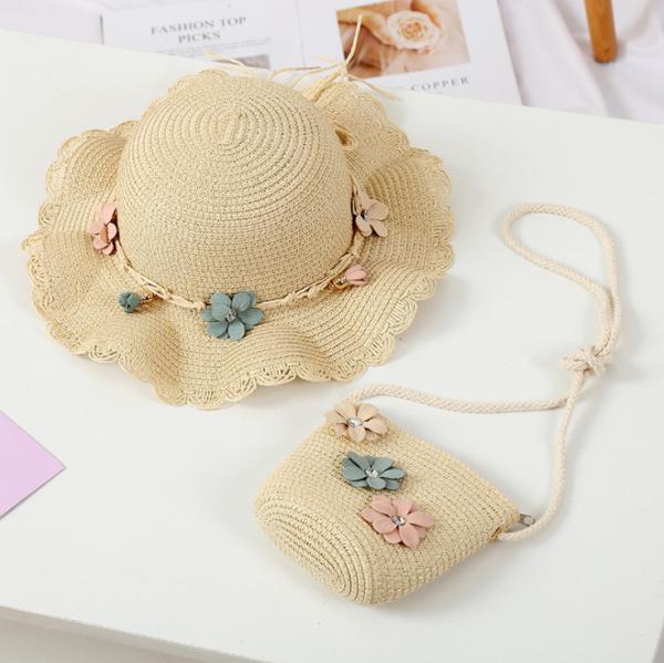 Giá bán Combo mũ rộng vành và túi cho bé gái 3-8 tuổi.Mũ cói trẻ em Unifriend phong cách Hàn Quốc MU02