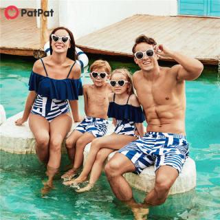 PatPat Đồ Bơi Một Mảnh Xếp Nếp Gia Đình, Đồ Bơi-Z
